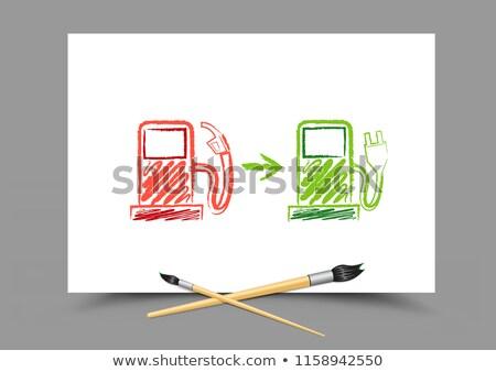 рисунок эволюция будущем АЗС белый бумаги Сток-фото © romvo
