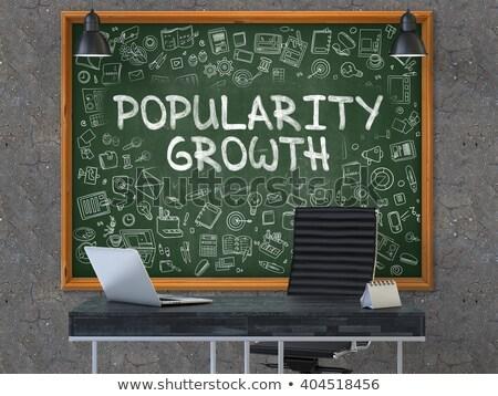 Popülerlik büyüme yeşil kara tahta modern Stok fotoğraf © tashatuvango