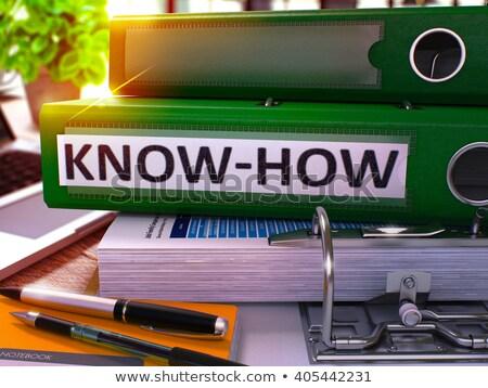 Green Ring Binder with Inscription Know-How. Stock photo © tashatuvango