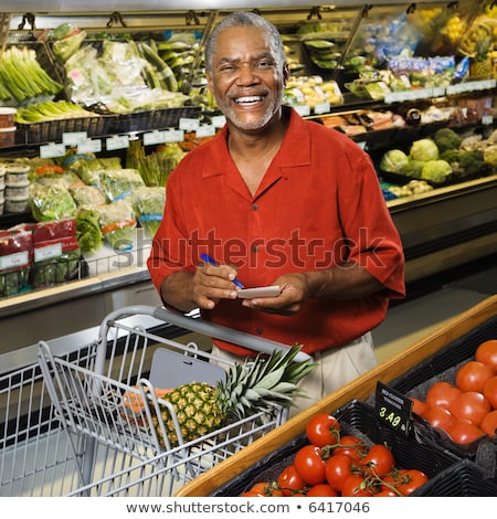 man shopping looking at viewer Stock photo © IS2