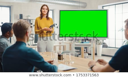 woman presenting green concepts Stock photo © IS2