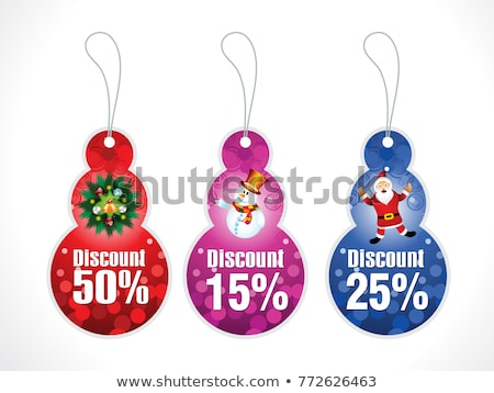 abstract artistic creative multiple christmas discount tags stock photo © pathakdesigner