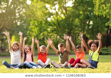 happy group of  kids, at summer camp Stock photo © godfer