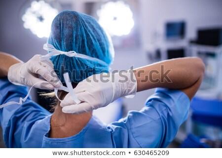 Kórház előkészítés operáció szoba elmosódott alkat Stock fotó © vilevi