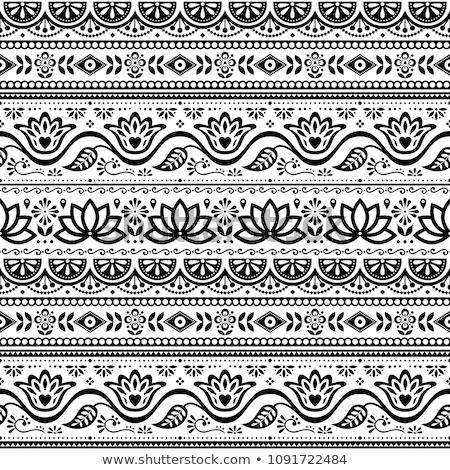 手 · 描いた · ベクトル · 美しい · 実例 · 花 - ストックフォト © redkoala