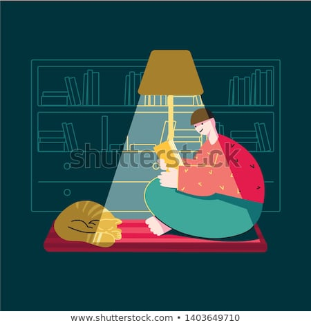 Biblia · estudio · ilustración · familia · estudiar · junto - foto stock © popaukropa