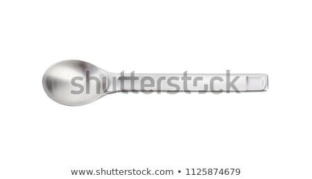 небольшой металл ложку белый новых пусто Сток-фото © Digifoodstock
