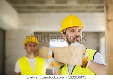 Helm bouwvakker man ingesteld business Stockfoto © toyotoyo