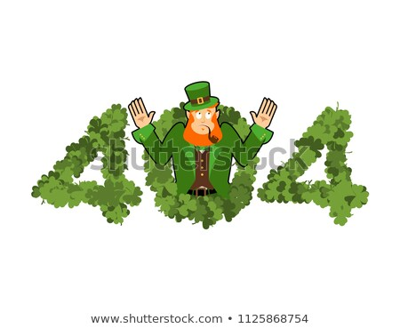 Error 404. leprechaun is surprise. Page not found template for w Stock photo © popaukropa
