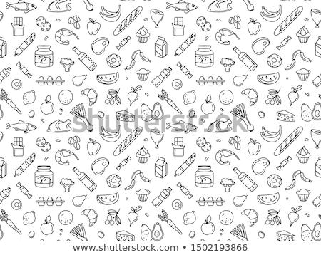 продуктовых иллюстрация продовольствие вино торт Сток-фото © olegtoka