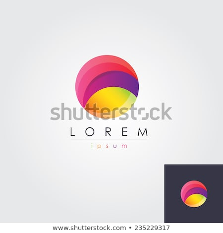 Stockfoto: Bold Green Icon For Letter O Vector Illustration