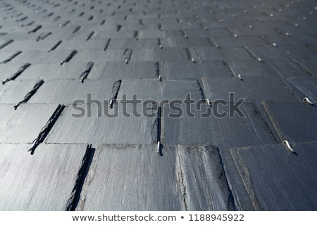 Zwarte dak tegels galicië Spanje perspectief Stockfoto © lunamarina