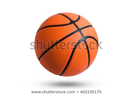 バスケットボール ボール ヘッドホン 白 スポーツ 通信 ストックフォト © m_pavlov