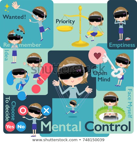 virtual reality goggle women_Mental & volition Stock photo © toyotoyo