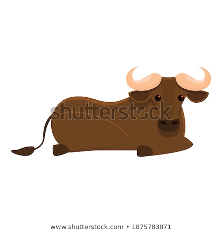 Cartoon Wildebeest Dreaming Stock photo © cthoman