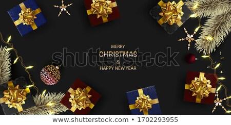 Stok fotoğraf: Yeni · yıl · Noel · altın