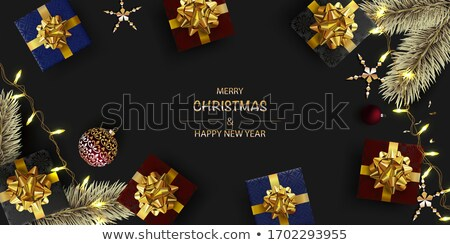 Nuevos año Navidad dorado Foto stock © m_pavlov