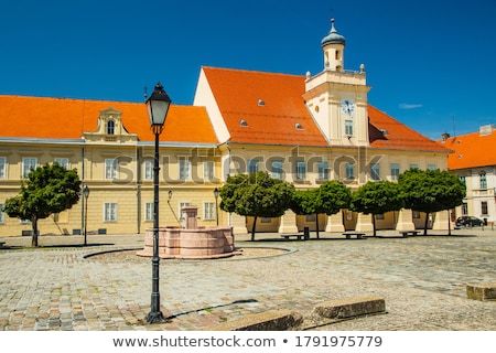 Holy trinity square in Tvrdja historic town of Osijek Stock photo © xbrchx