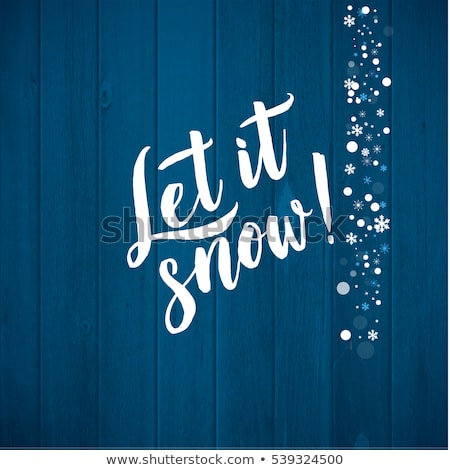 snowfall and blue wood background Stock photo © romvo
