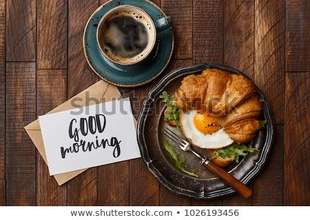 доброе утро Континентальный завтрак хорошие завтрак Кубок Сток-фото © Illia