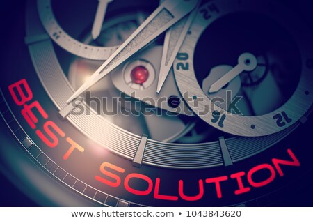 business vision on the automatic pocket watch mechanism 3d stock photo © tashatuvango