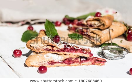 Shortbread biscuits with cherry filling Stock photo © Alex9500