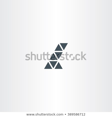 letter l triangles icon vector symbol Stock photo © blaskorizov