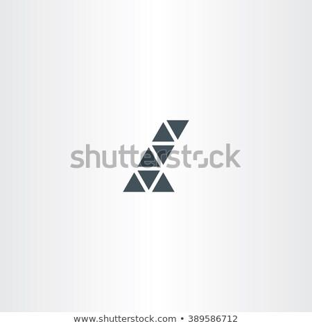 abstract · icon · letter · l · iconen · teken · groene - stockfoto © blaskorizov