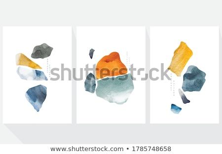 Set of stones pattern Stock photo © netkov1