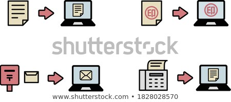 Modern Means of Communication Outline Icon Set Stock photo © robuart