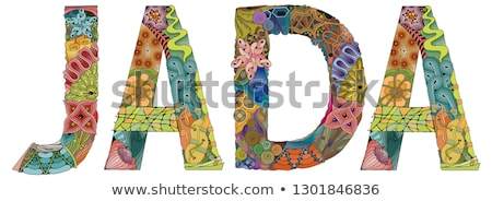 Stock photo: Female name JADA. Vector decorative zentangle object