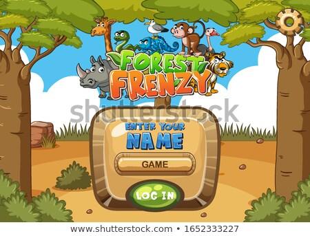 動物 ジャングル ゲーム テンプレート 実例 森林 ストックフォト © colematt