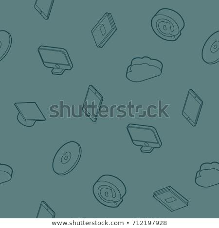 web design color outline isometric pattern stock photo © netkov1
