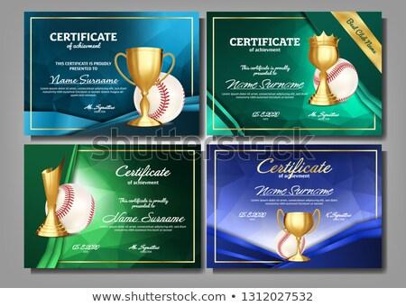 baseball · vecteur · rouge · dentelle - photo stock © pikepicture