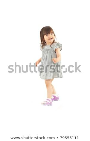 Lövés gyönyörű kaukázusi kislány egészalakos mosoly Stock fotó © Lopolo