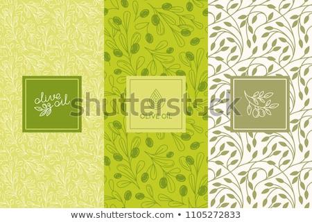 Olijfolie patroon textuur natuur achtergrond behang Stockfoto © doomko
