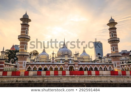 Historic mosque, Masjid Jamek at Kuala Lumpur Foto d'archivio © galitskaya