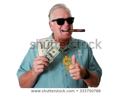 Rich People Happy to Have Pile of Money in Bank Foto d'archivio © robuart