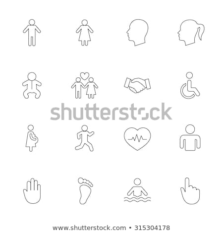 Map Pointer path Icon with Male and Female symbols. Stock photo © kyryloff