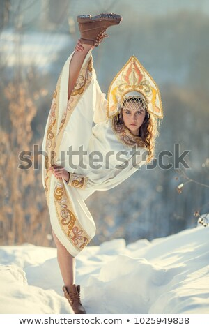 Girl in fur shawl Stock photo © Artlover