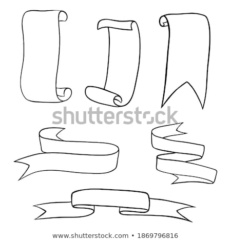 Curled Classic Advertising Ribbon Doodle Vector Stock photo © pikepicture