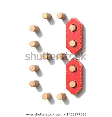 Wooden toy red digital number 1 ONE 3D Stock photo © djmilic