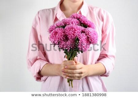 Primer plano imagen hermosa manos luz rosa Foto stock © serdechny