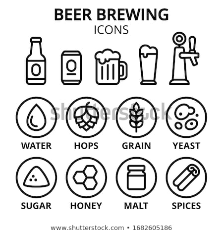 Trigo ingredientes cerveja isolado branco Foto stock © konturvid