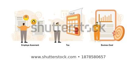 Estrutura tabela conjunto ilustração negócio escritório Foto stock © Blue_daemon