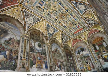 Piccolomini Library, Siena, Italy Stock photo © borisb17