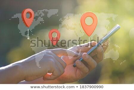 Eller uygulama simgeler dünya dijital bileşik iş Stok fotoğraf © wavebreak_media