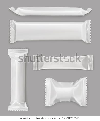 Blank Polymer Packaging Chocolate Bar Vector Icon Stock photo © pikepicture