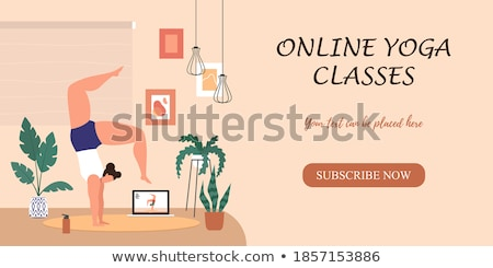 Yoga class training vector colorful banner template Stock photo © Decorwithme