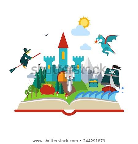 塗り絵の本 · 海賊 · 水 · ツリー · 図書 · 海 - ストックフォト © orensila